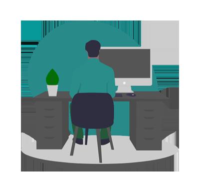 image of a minimalist desk