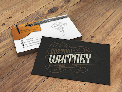 image of Whitney guitar business cards