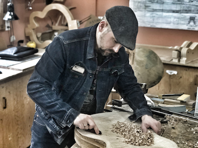 image of Whitney Guitars Carving Archtop CloseUp