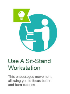 Use A Sit-Stand Workstation